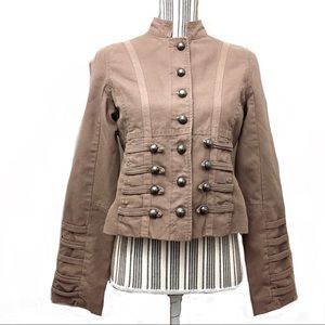 Picasso Style Cropped Military Jacket